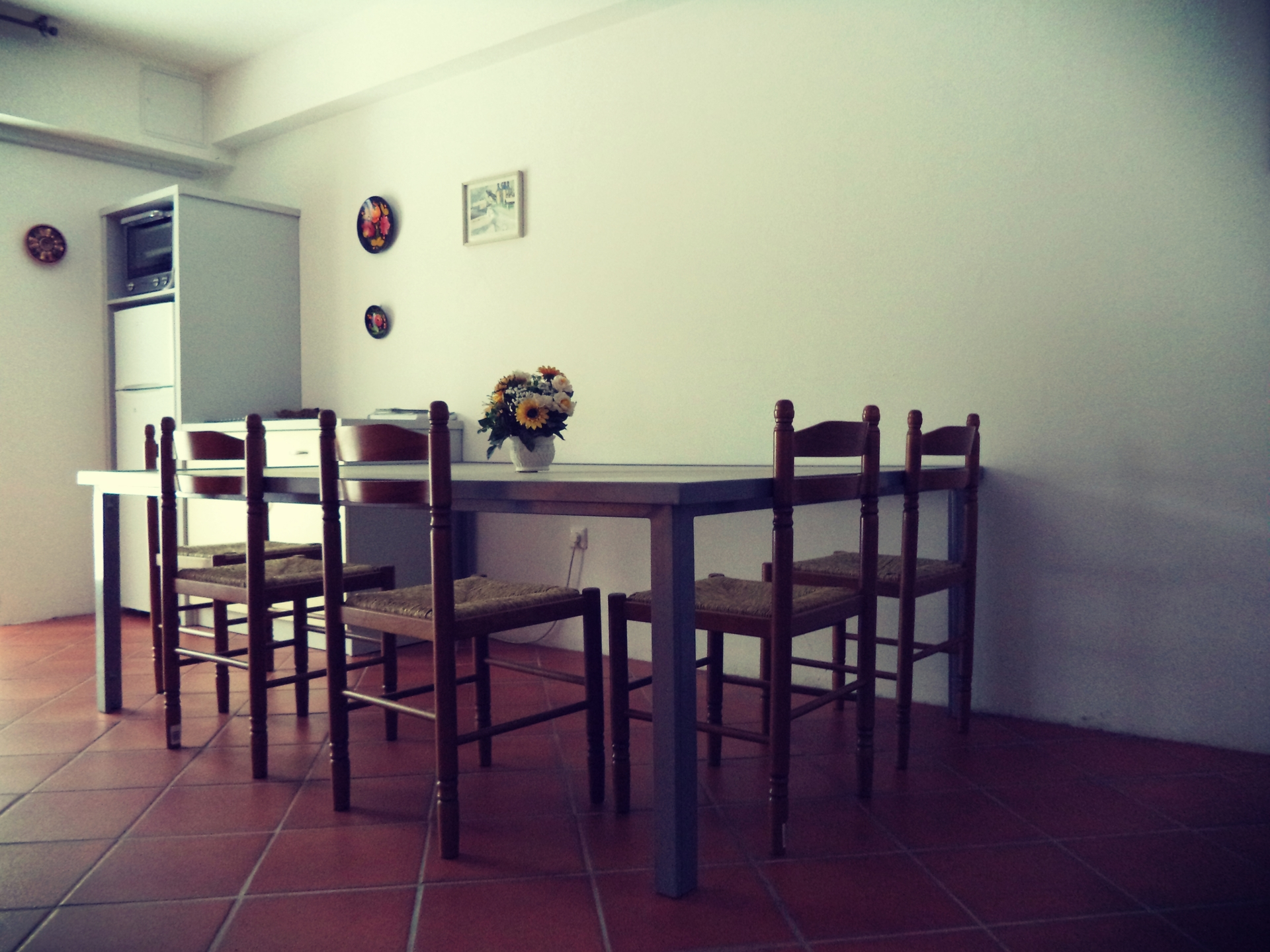 A view of the dining table (large apartment).