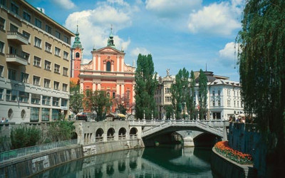 A picturesque view of the Ljubljanica